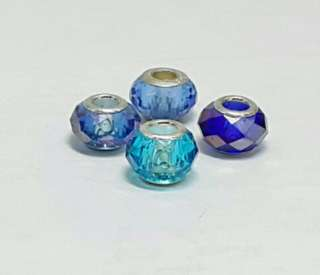 18 pcs of Faceted Blue Glass Charms