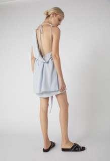 Kacey Devlin Deconstructed Mini Dress WHITE