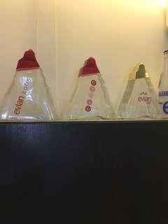 15 Evian Bottles