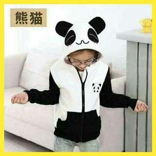 📚 Unisex Panda Hoodie Jacket 👦👧 Freesize: fits 5 - 7 years old