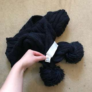 Abercrombie and Fitch knitted Navy Blue Scarf