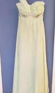 淺綠色晚裝裙