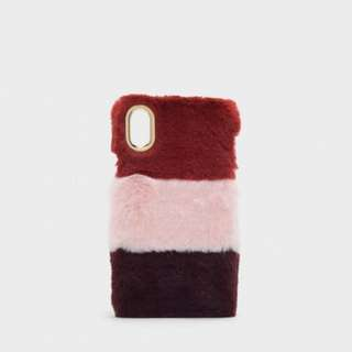iPhone X Charles & Keith Furry Phone Case