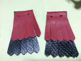 Detachable leather fringe for shoes