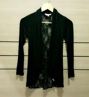 [PL] NEW LOOK Black Lacey Cardigan