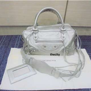 AUTHENTIC BALENCIAGA LAMBSKIN MEDIUM BAG WITH STRAP - GOOD CONDITION - WITH DUSTBAG