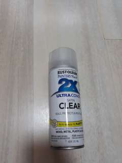 WTS BN can of Rust-oleum Satin Clear Protective Coat Spray