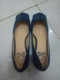 Navy Blue Flat Shoes Little Things she Needs