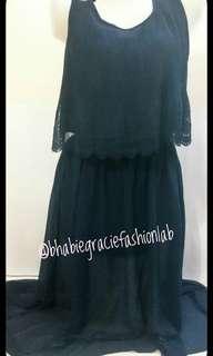 Sheer Long back maxi dress