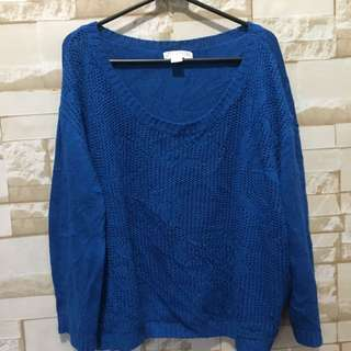 Cotton on blue sweater