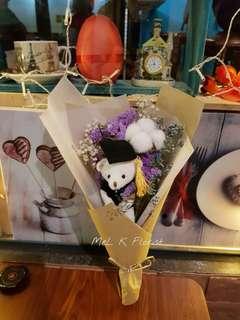 Cotton flower Graduation Bouquet (Dry Flowers)