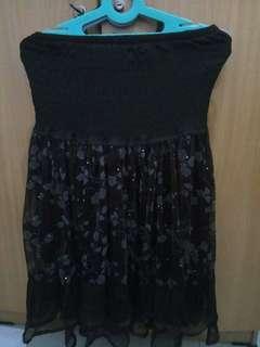 Floral Brown Skirt