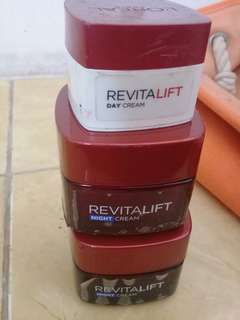 jual loreal refitalift night cream 3pcs.. 1 masih full