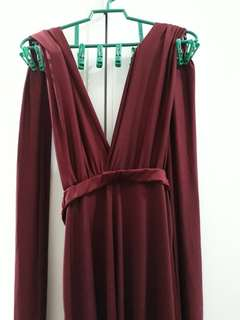Maroon Infinity Dress [Repriced]