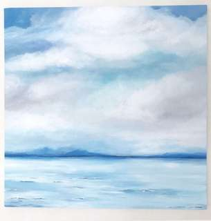Large clouds painting