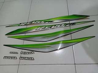 Striping Body Honda Revo Fit 2013 Warna Hijau