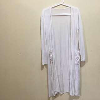 Long cardigan white
