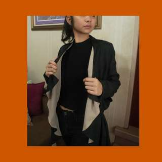 Waterfall Black and Tan Blazer w/ Pockets