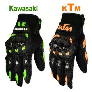 BN Kawasaki Motorbike Gloves