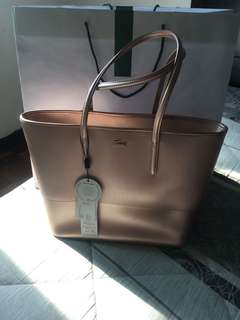 Lacoste medium chantoco  tote bag split cow leather