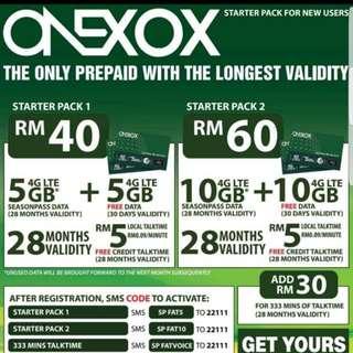 Onexox Malaysia Prepaid Card