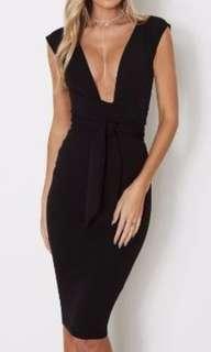 Nookie Royal Midi Dress size small (Black)