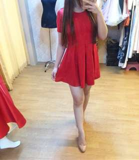 Red dress / terusan pendek merah / preloved zara / mango / et cetera / sephora