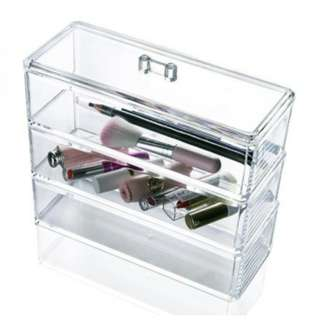 Acrylic 3 layer Jewelry Storage Box/Cosmetic Organizer/Makeup Organizer