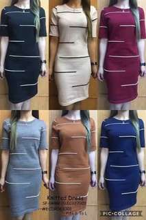 KNITTED DRESS  Fits S To L  Price : 390