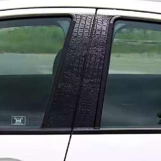 Honda Vezel HRV accessories - door pillar protector (black crocodile skin texture sticker)