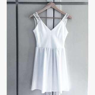 The Ramp White Flair Dress