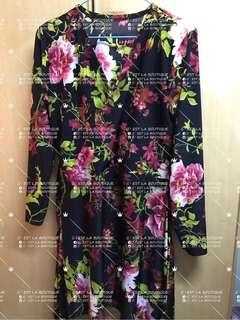 Kimono knee length dress