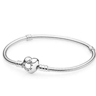Pandora Charm Bracelet Heart Clasp