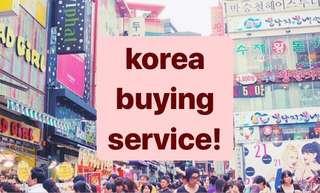 [CLOSED]Korea purchasing service!!
