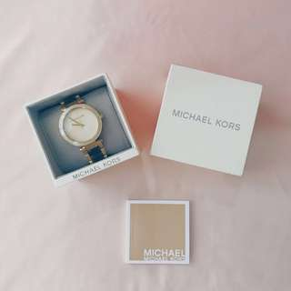 Authentic Michael Kors Women's Parker Crystallized Gold-Tone Watch