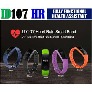 Smart Band ID107  0.96 inch Color OLED heart rate Smart Bracelet Wristband