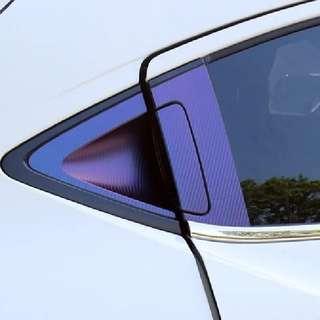 Honda Vezel HRV accessories - rear door handle protector (multitone purple carbon fibre texture sticker)