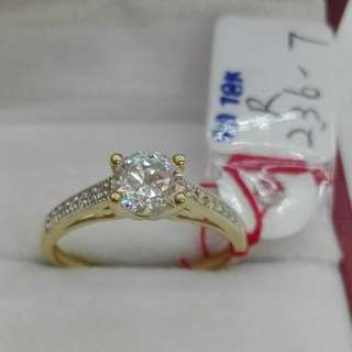( size: 7 ) 18K SAUDI GOLD RINGS .'''
