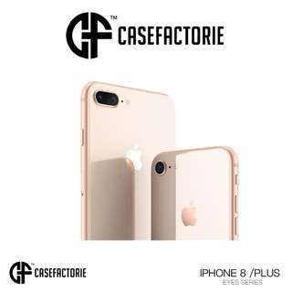 CASEFACTORIE EYES FOR APPLE IPHONE 8/ IPHONE 8 PLUS RUGGED SHOCKPROOF TPU CLEAR CASE CASING COVER (Authentic) (Self-Collection) (Postage)