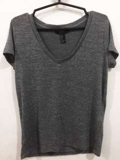 FOREVER 21 grey tee