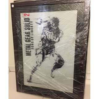 Metal Gear Solid 2 Custom Framed Poster.