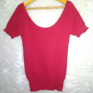Brandnew: Red Knitted Top Fits XS To Med