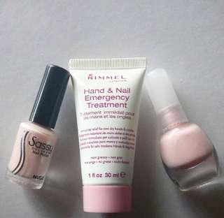 FREE | Rimmel London Hand & Nail Emergency Treatment | Sassy Colors: Nude and Light Pink Nail Polish