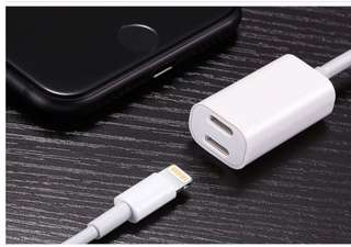 🚚 2in1 double lightning adapter for iPhone 8/X