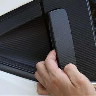 Honda Vezel HRV accessories - rear door handle protector (black carbon fibre texture sticker)