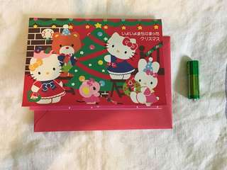 Hello kitty Christmas 立體賀卡