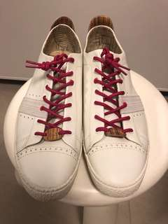 New Paul Smith US9.5 白色鞋 White Leather Shoes Trainers Lace m