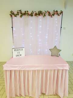Dessert table skirting and cloth