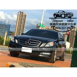 【FB搜尋桃園阿承】賓士 超人氣E200頂級 2012年 1.8 黑色 二手車 中古車