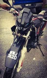 Scrambler motorbike